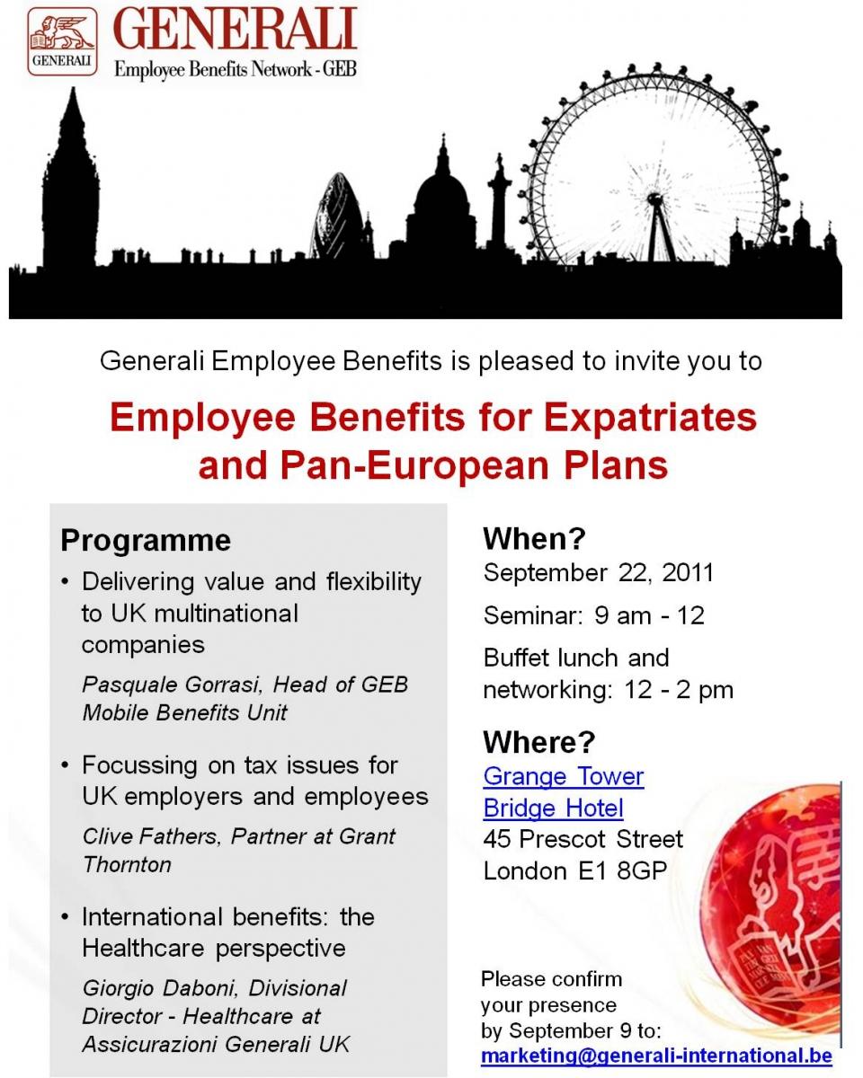 GEB expatriate benefits seminar in London   GEB